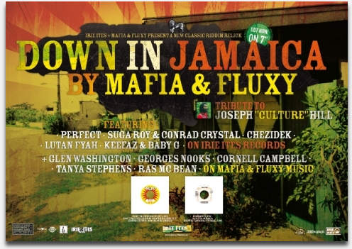 Down In Jamaica riddim flyer