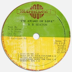 BB Seaton - I'm Aware Of Love (label A)