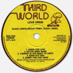 Black Uhuru - Love Crisis - label A
