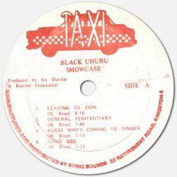 Black Uhuru - Showcase - Taxi label A