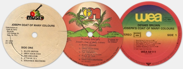 Dennis Brown - Joseph's Coat Of Many Colours - labels