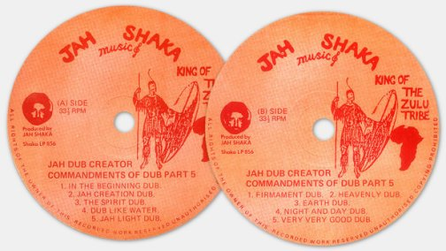 Jah Shaka - Jah Dub Creator - Commandments of dub part. 5