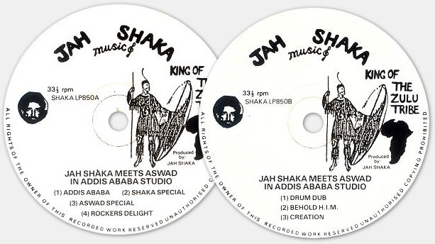 Jah Shaka meets Aswad - labels