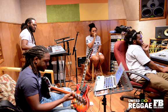 Queen Ifrica recording Good Man