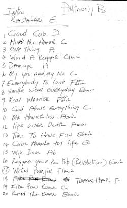 Anthony B setlist