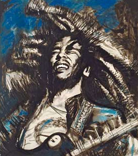 Bob Marley by Ronnie Wood