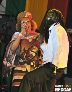 Buju Banton and Marcia Griffiths