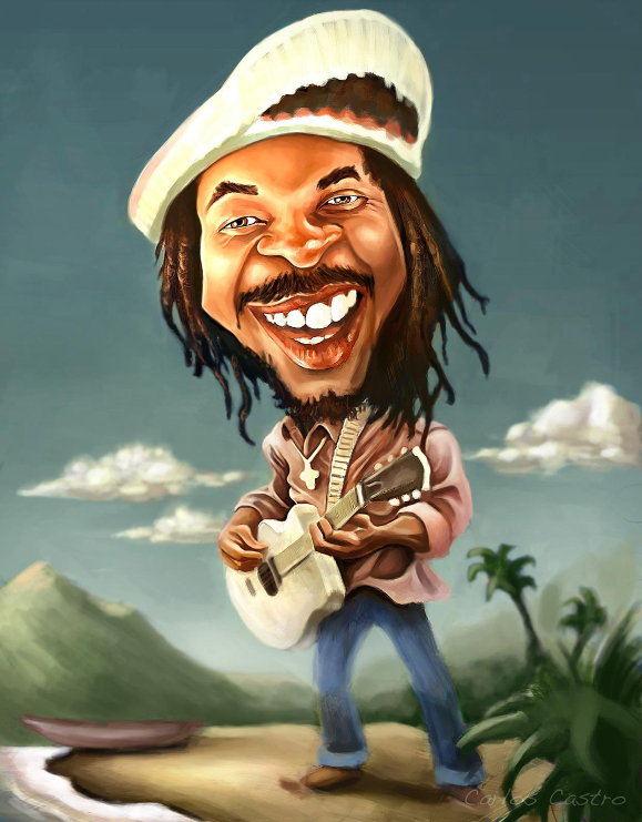 Peter Tosh caricature