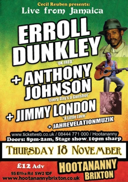 Errol Dunkley in London