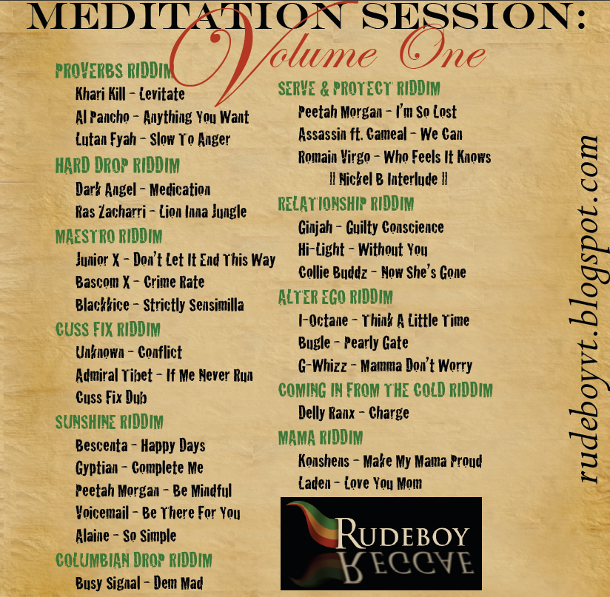 Meditation Session Vol 1 tracklisting