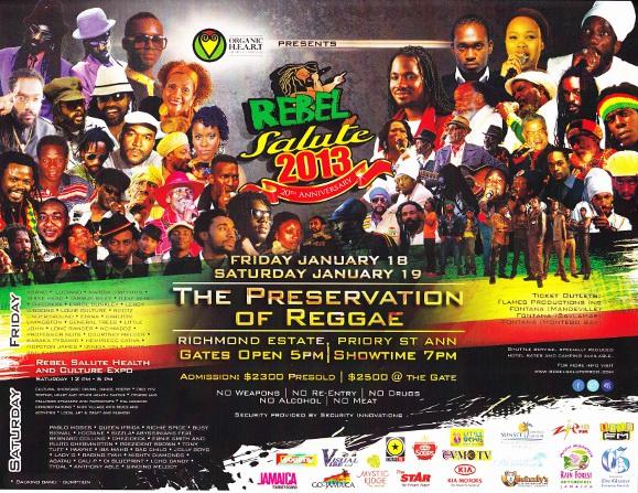 Rebel Salute 2013 poster