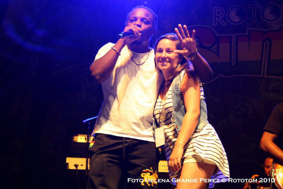 Sara Lugo and Chuck Fender at Rototom 2010