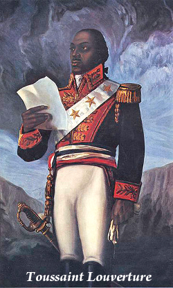 toussaint lvourture Toussaint l'ouverture (c 1743–1803), he was the leader of the haitian revolution toussaint l'ouverture started his military career as a leader of the 1791.